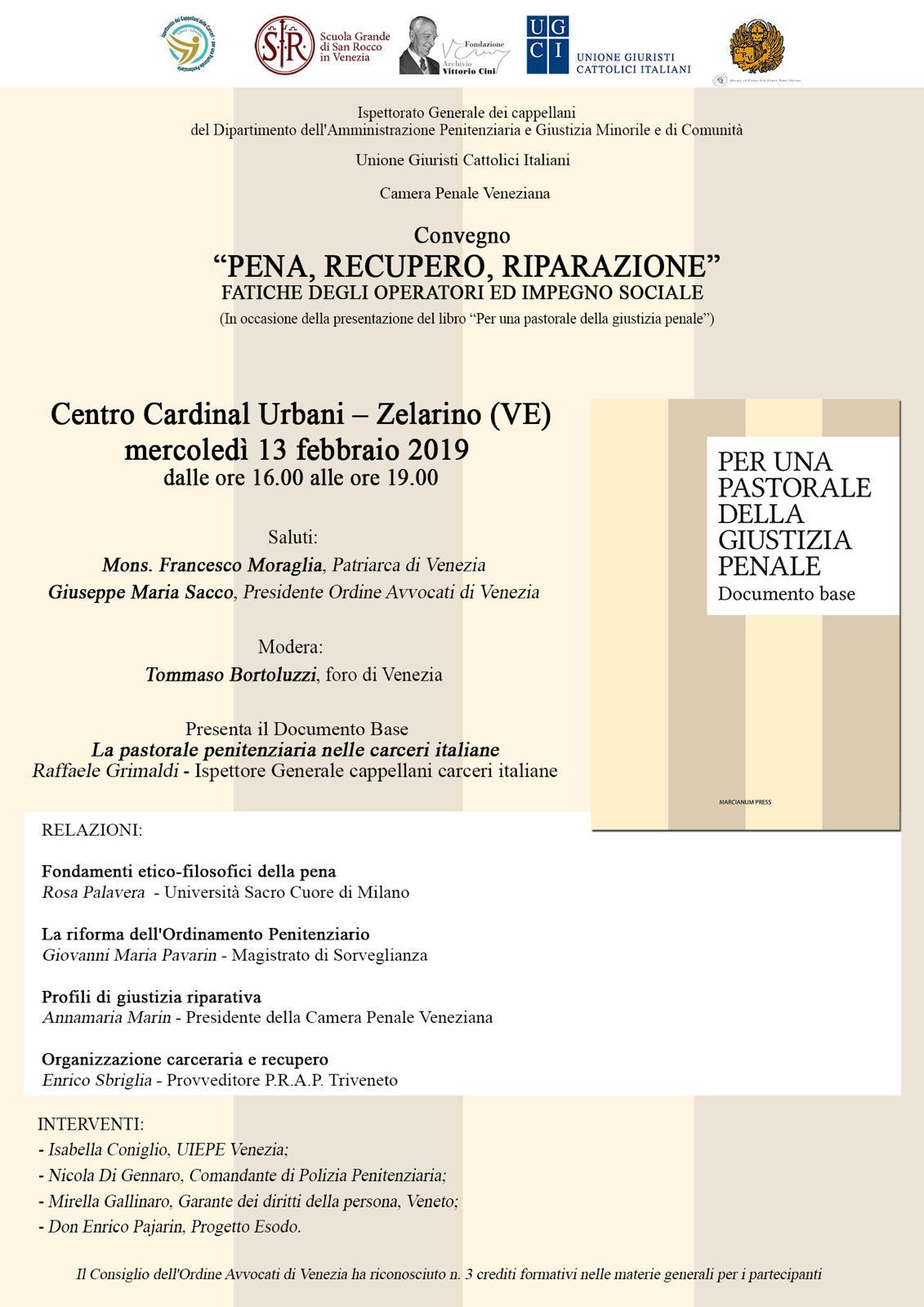 Convegno Pena, recupero, riparazione - 13/02/2019